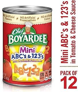 Chef Boyardee Mini ABC's and 123's, 15 oz, 12 Pack