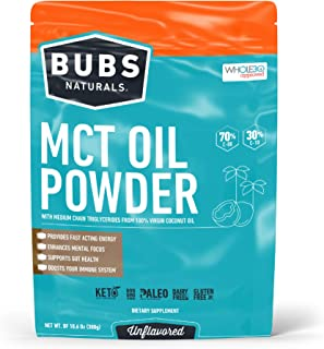 BUBS Naturals MCT Oil Powder | Medium Chain Triglyceride Oil Powder | Keto Friendly | Paleo Friendly | Healthy Fat | Low C...