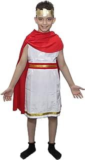 Kaku Fancy Dresses Roman Boy Costume of International Traditional Wear -Red & White, for Boys