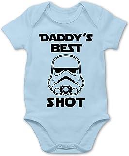 Shirtracer Strampler Motive - Daddys Best Shot - Baby Body Kurzarm für Jungen und Mädchen