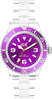 Ice-Watch Unisex CL.PE.U.P.09 Classic Collection Purple Dial Clear Plastic Watch