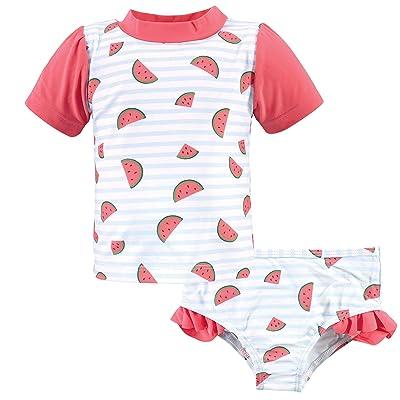Hudson Baby Hudson Baby Unisex Baby Swim Rashguard Set, Watermelon, 5 Toddler