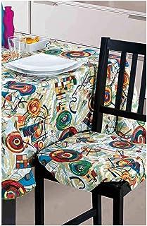 emmevi Cuscino Sedia Trapuntato Coprisedia Cucina Universale Lavabile Fiori Barocco MOD.ROSA55A Beige