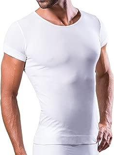 Camiseta Interior Hombre con Hilos técnicos Deportivos para Uso Diario, térmico, Ultraligero y bacteriostático, sin Costuras e Invisible Debajo de la Camisa o el Polo.