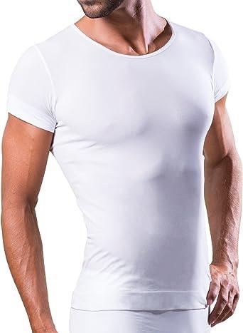 Dr.Walt - Camiseta Interior Hombre con Hilos técnicos Deportivos para Uso Diario, térmico, Ultraligero y bacteriostático, sin Costuras e Invisible ...