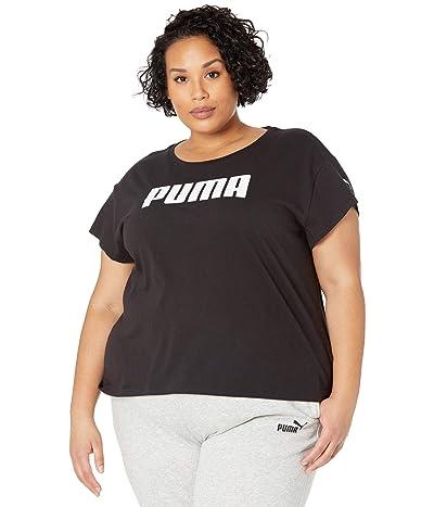 PUMA Plus Size Active Logo Tee (Cotton Black) Women