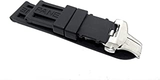 New 24mm Black Rubber Strap with Solid Stainless Steel Clasp Made to FIT to Officine Panerai Luminor Marina