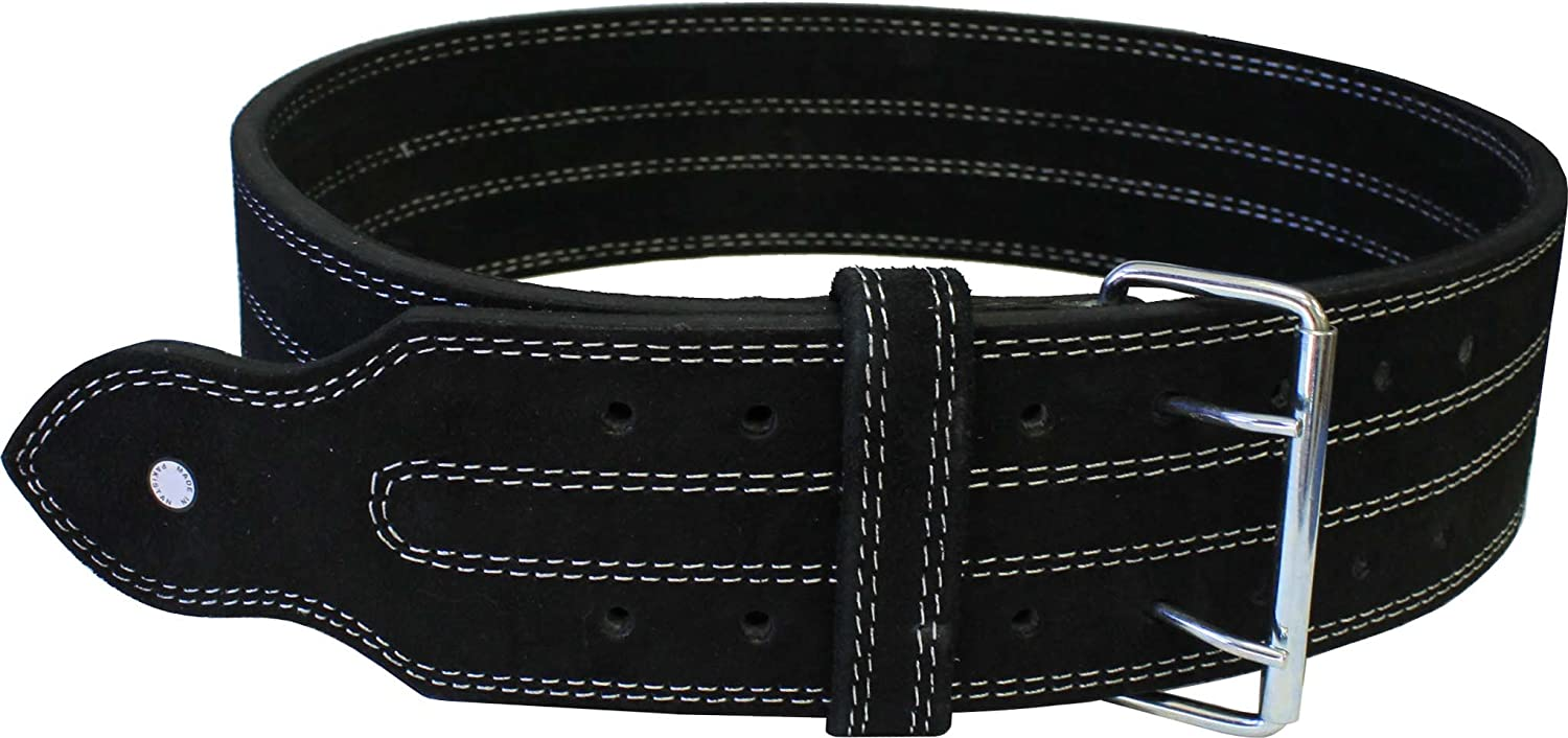 Ader Leather Power Lifting Weight Belt 4  Black (X Large)