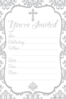 Religious Celebration Invitations - Fill In Style (20 Count) With Envelopes: Baptism - Christening - First Communion - Confirmation