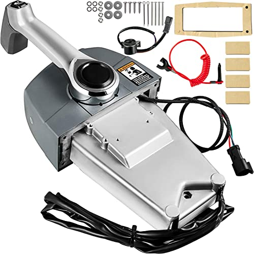 Mophorn Boat Throttle Control 5006182 Center Console Mount Outboard Remote Control Single Lever Binnacle fit for Evinrude and Johnson Outboards Throttle Gear Control