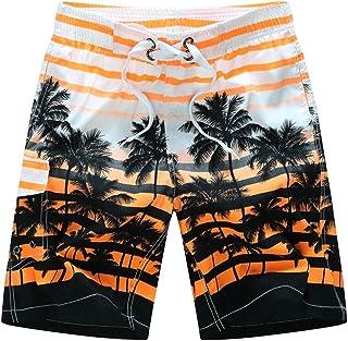 06a8a18e9be49 Perman Men Plus Size Shorts, Summer Beach Casual Medium Length Printing  Quick Dry Swim Trunks