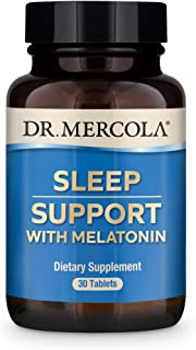 Dr. Mercola Melatonin Sleep Support, 30 Servings (30 Tablets), Supports Overall Sleep Quality, Non GMO, Soy Free, Gluten Free