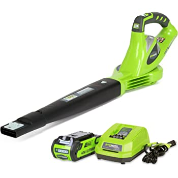 Greenworks 40V 150 MPH Variable Speed Cordless Leaf Blower, 2.0Ah Battery and Charger Included 24252