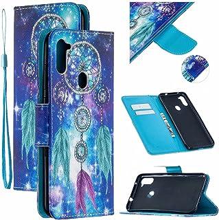 CRABOT Reemplazo para Samsung Galaxy A11/M11 Funda de Cuero PU Plegable Cartera Cierre Magnético Ranura para Tarjeta Sopor...