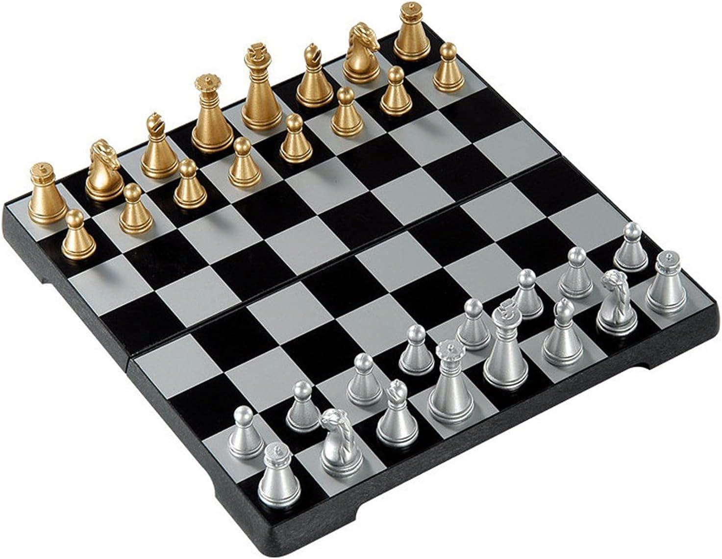 wanhaishop 2021 new Board Games 2.6 X 2021 new Plastic Inches Foldab Chess Set