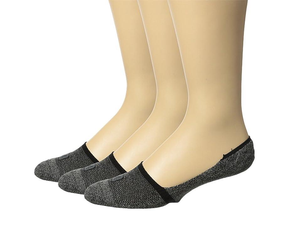 Sperry Solid 1/2 Cushion Mid Vamp Liner 3-Pair Pack (Black) Men's Crew Cut Socks Shoes