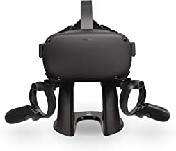 AMVR VR Stand,Headset Display Holder and Controller Mount Station for Oculus Rift S / Oculus Quest Headset and Touch Controllers