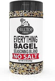 Hilltop Foods No Salt Everything Bagel Seasoning Blend 9 Ounce