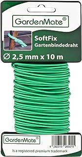 GardenMate Lien de tuteurage 2,5mm x 10m pour Plantes et arbustes - Fil d'acier entouré de Caoutchouc