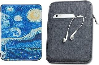 Capa Kindle 10ª geração com iluminação embutida Van Gogh - Função Liga/Desliga - Fechamento magnético + Bolsa Sleeve Cinza...