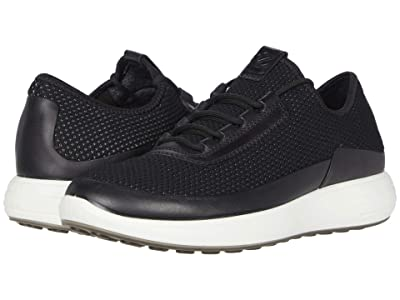 ECCO Soft 7 Runner Summer Sneaker (Black/Black) Men