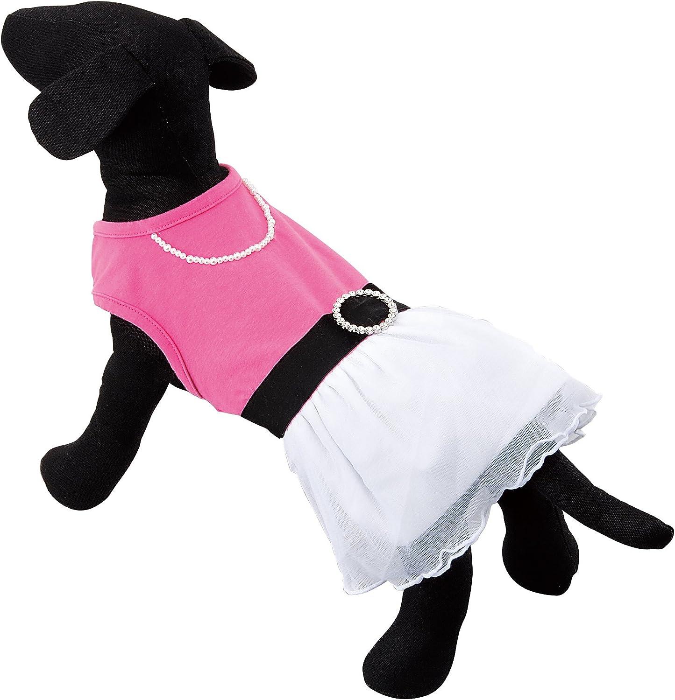 Moriizumi Serebura dog Lace Dress Pink   White 2L T00909 (japan import)