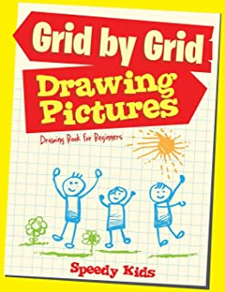 Drawing Pictures Grid by Grid : Drawing Book for Beginners