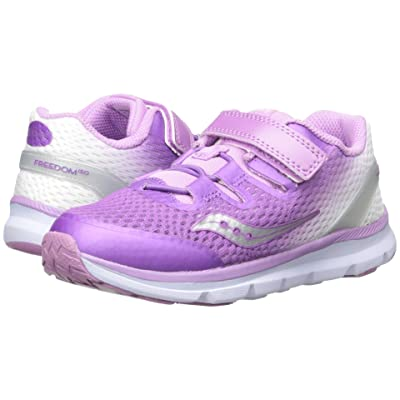 Saucony Kids Freedom ISO (Toddler/Little Kid) (Purple/White) Girls Shoes