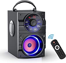 Portable Bluetooth Speakers with Subwoofer Rich Bass Wireless Outdoor/Indoor Party Speakers MP3...