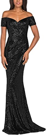YSMei Vintage Off Shoulder Mermaid Sequins Evening Dress Long Prom Gowns YPM492