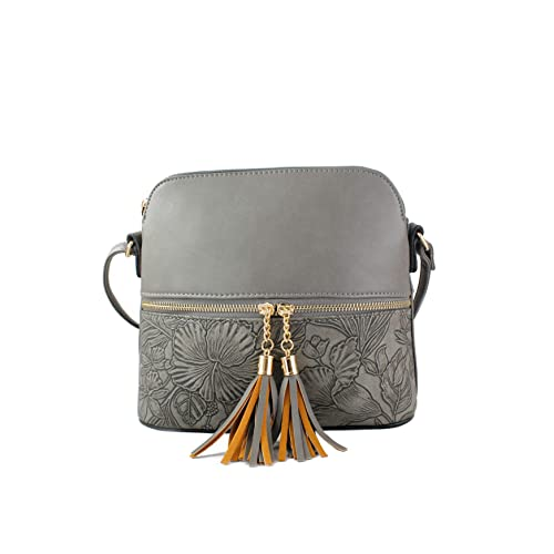 c0216b657a Women s Tassel Charm Floral Print Small Handbag Crossbody Messenger  Shoulder Bag