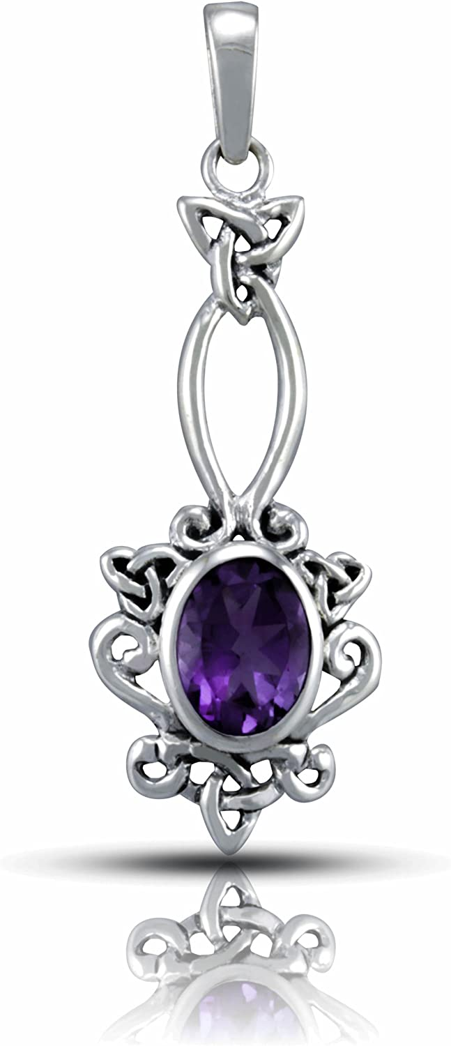 WithLoveSilver 925 Sterling Silver Open Natur Quality inspection Around Ranking TOP4 Oval Celtic
