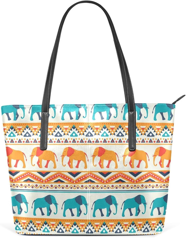 COOSUN Tier Elefant Muster PU Leder Schultertasche Handtasche und Handtaschen Tasche für Frauen B075YSTD3C