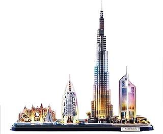 CubicFun 3D Puzzle with LED Lighting Dubai Cityline Architecture Model 182 pieces