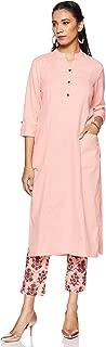 Amazon Brand - Tavasya Women's Straight Salwar Suit Set