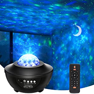 پروژکتور بریزل استار با بلندگوی بلوتوث ، کنترل از راه دور پروژکتور گلکسی 2 ، 1 ، نور شب فعال با صدا با تایمر ، چراغ سحابی LED با ستاره
