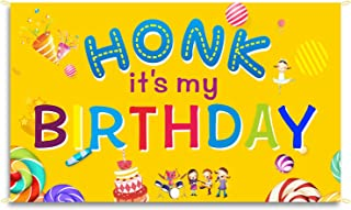 Large Happy Birthday Banner 6X3.2Ft HONK IT'S My Birthday Yard Sign Birthday Party Decoration, Dry Easily Polyester Oxford...