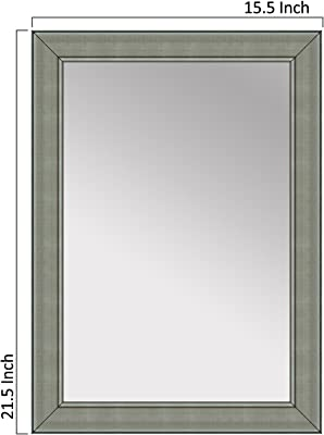 Elegant Arts & Frames Home Wall Mounted Décor Water Resistant Mirror with Rich Synthetic Moulding - Decorative Wall Mounted Dressing Water Resistant Mirror (L X W x H) Inch (21.5 x 15.5 x 1)