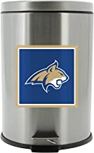 NCAA Montana State Cats Stainless Steel Trash Bin with Foot Pedal, 20 Liter