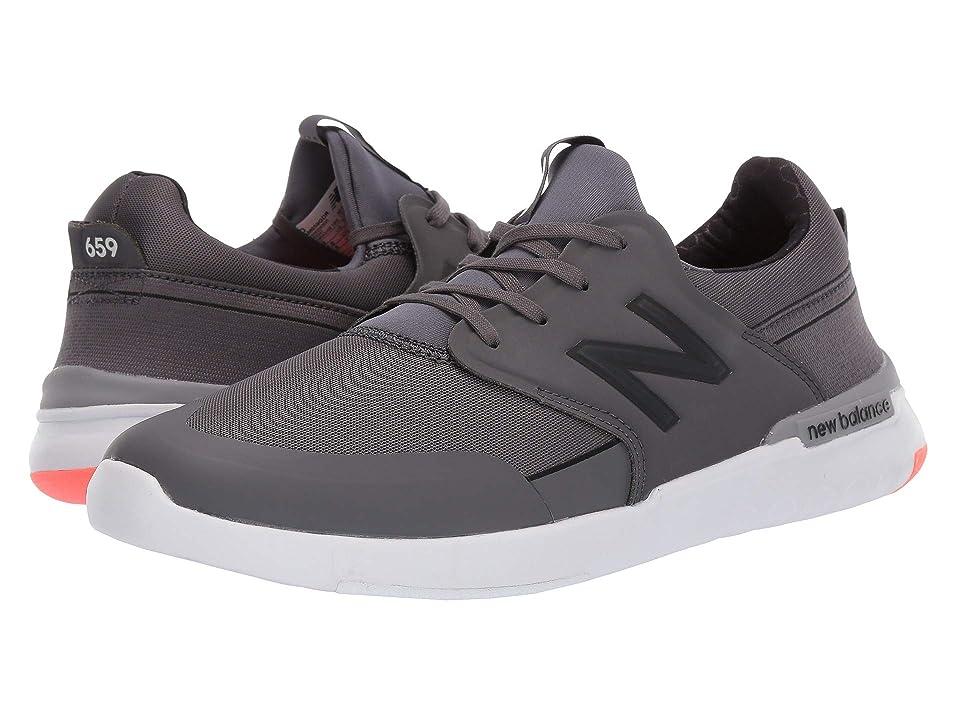 New Balance Numeric AM659 (Dark Grey/Orange) Men's Skate Shoes, Gray
