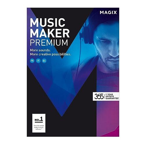 MAGIX Music Maker – 2017 Premium Edition – Logiciel de musique : enregistrez, éditez et remixez votre musique [Téléchargement]