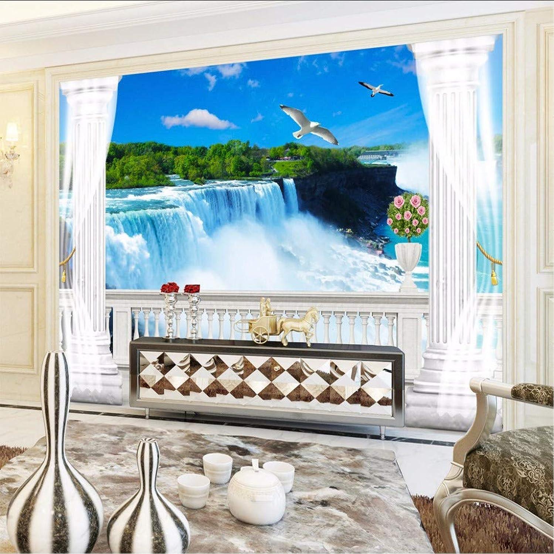 comprar barato Syssyj Syssyj Syssyj Simulado Balcón Cascada Naturaleza Paisaje Mural Fotográfico Para La Sala De Estar Tv Sofá Telón De Fondo Parojo No Tejido Tamao Personalizado Papel Tapiz 3D-200X140CM  tienda de venta en línea