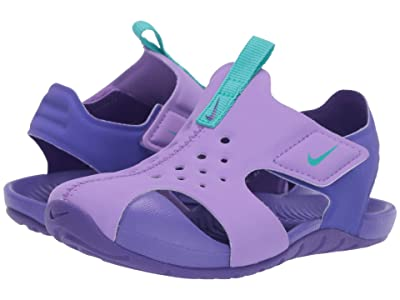 Nike Kids Sunray Protect 2 (Infant/Toddler) (Atomic Violet/Hyper Jade/Hyper Grape) Girls Shoes