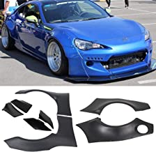 ECOTRIC Fender Flares for 2013-2016 Scion FRS & 2013-2017 Subaru BRZ GR Style Rocket Bunny Vehicle ABS Cover
