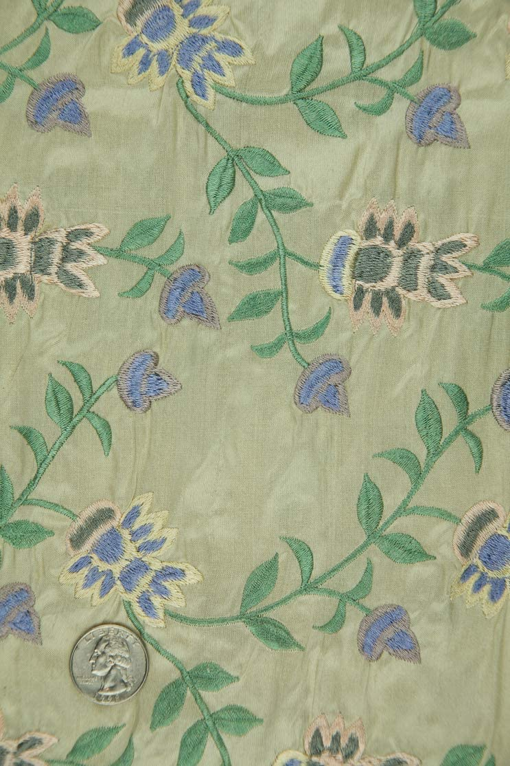 Max 70% OFF Embroidered Dupioni Silk Fabric Max 55% OFF 1 MED-145