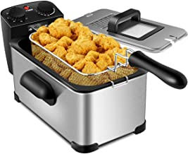 COSYWAY Deep Fryer, 1700W Electric Stainless Steel Deep Fryer -3.2qt Oil Container &..