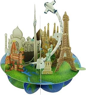 Santoro Pirouette Travel the World 3D Card, Multi-Colour