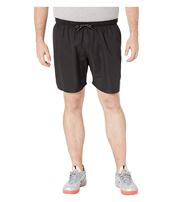 Nike Big Tall 7 Solid Vital Volley Shorts (Black) Men