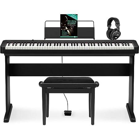 Casio CDP-S100 BK - Piano electrónico (88 teclas compactas, piano Comapct con altavoz, USB y MIDI, incluye banco de piano, base, auriculares y piano ...