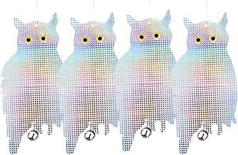 Patio Eden 4 Pack Bird Deterrent Scare Owls - Effective Hanging Bird Control Repellent